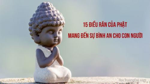 15 điều răn của phật mang đến sự bình an cho con người