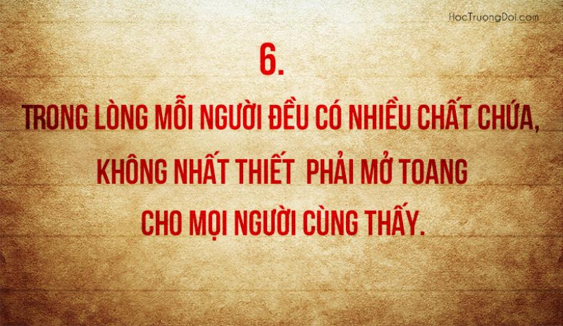 những câu nói sâu sắc cần nhắc nhở bản thân mỗi ngày6