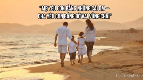 cách yêu con của cha và mẹ khác nhau như thế nào