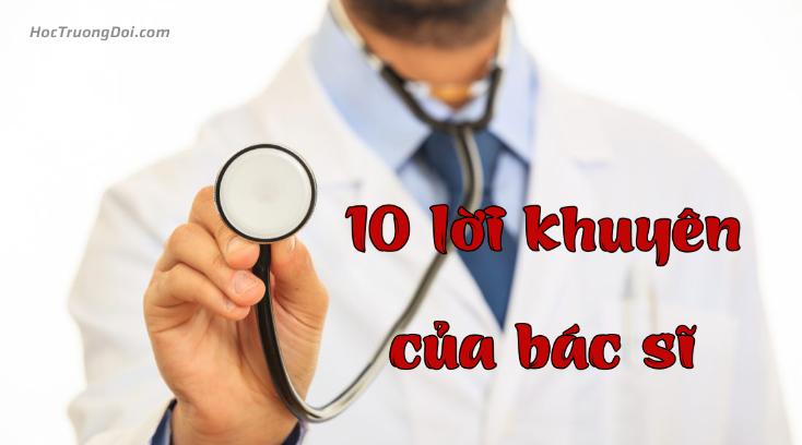 10 lời khuyên của bác sĩ